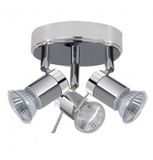 Aries Chrome/Satin Silver Bathroom Spot Light 3