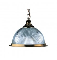 American Diner Ceiling Pendant In Antique Brass