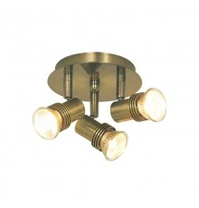 Decco - 3 Light Antique Brass Spotlight