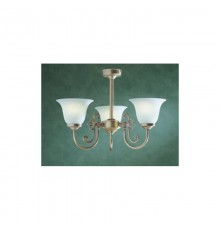 Dar Woodstock 3 Light Semi Flush