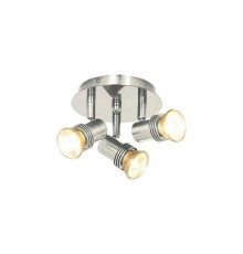 Decco 3 Light Satin Silver Spotlight